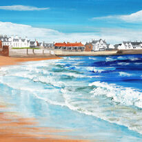 Waves and Wet Sand, Elie