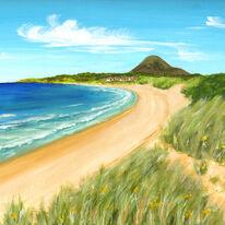 North Berwick Law from Yellowcraigs Beach