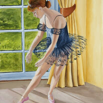 Young Ballerina by window
