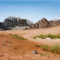 The Mountains of Wadi Rum, Jordan