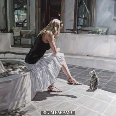 Girl with Cat, Lindos
