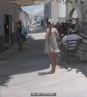 Girl in Street, Lindos