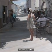 Girl in Street, Lindos