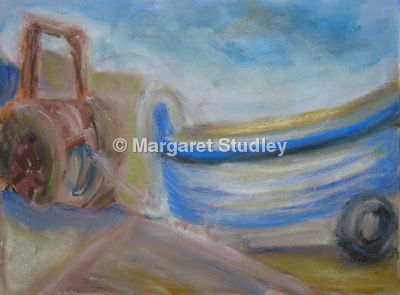 Tractor and Boat
