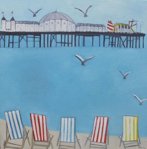 Deckchairs in the morning
