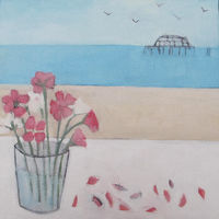 Sweet Peas by the sea