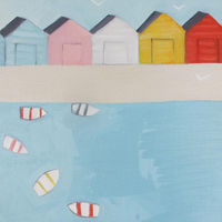 Beachhuts in the sunshine