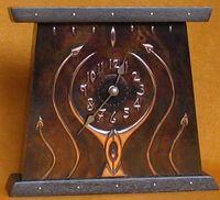 Arts & Crafts mantel clock