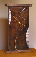 abstract mantel clock