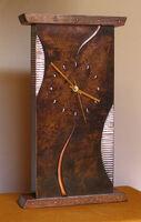 abstract mantel clock