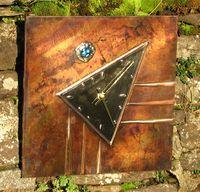copper wall clock  C2