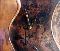 copper wall clock   C1