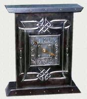 Celtic pewter mantel clock (CC 1)