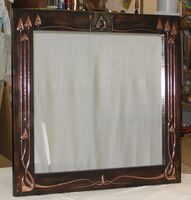 Arts & Crafts copper mirror- (ACM:1) )