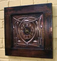 Arts and Crafts wall clock (ACC 5)
