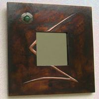 copper and aventurine mirror