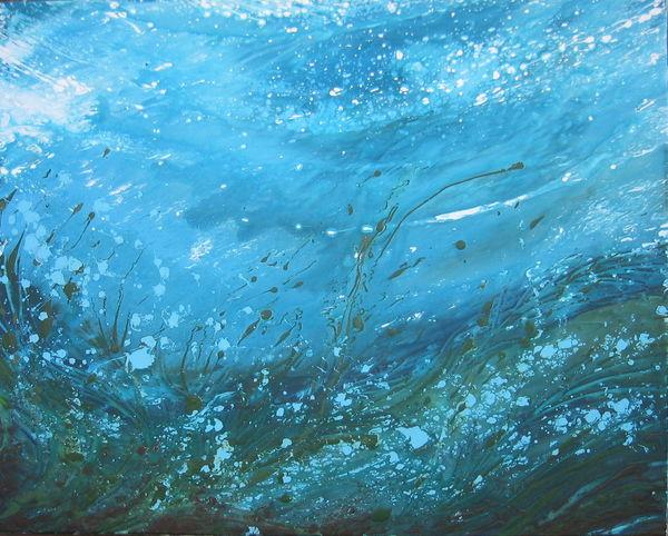 Underwatercurrent Acrylic On Canvas