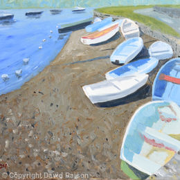 Boats on the River Stour, Christchurch, Dorset