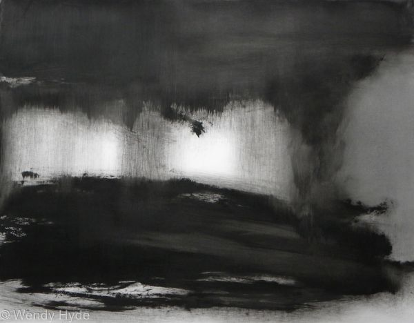 Abstraction in Monochrome Light  in the Darkness 2