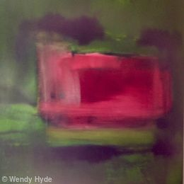 Colourfields  Crimson, Green and Black