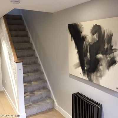 Work on display in clients home