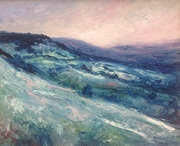 Cotswold escarpment (Birdlip) winter evening