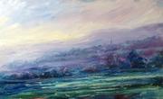 Painswick from Longridge, sunset