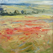 Poppy field above Sherborne