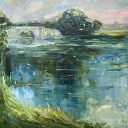 Blenheim bridge and lake