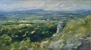Malverns from Leckhampton Hill