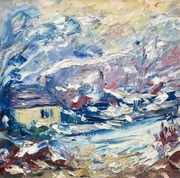 Laurie Lee's Cottage, winter