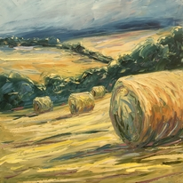 Big bales, evening