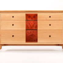 Cabinet with central display recess