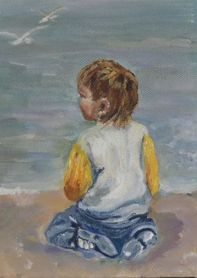 Looking out to sea 2 SOLD