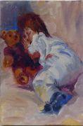 Sleeping with my teddy bear Sold
