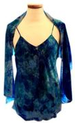 Cobalt  Royal camisole with matching scarf