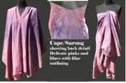 Antique Rose cape Sarong - Sold