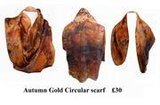 Autumn Gold Circular scarf