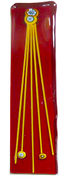 Red hanger with yellow stringers