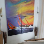 Sailing at sunset SOLD