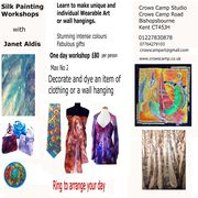 Silk painting workshops ad