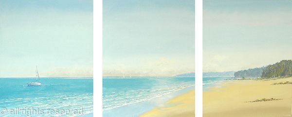 Peaceful Mooring Triptych