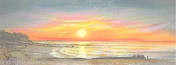 Ryde Beach at Sunset