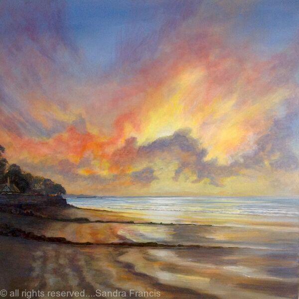 Sunset over Ryde Pier