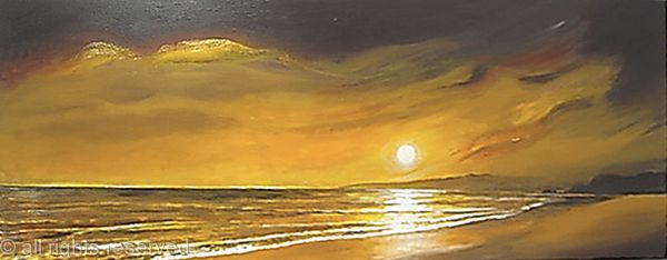Chocolate gold sunset beach