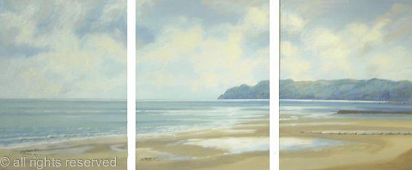 blue cliffs triptych