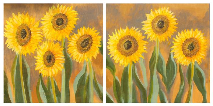 Sunflowers Diptych