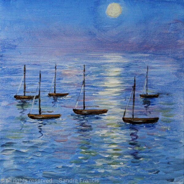 Moonlight over Moorings