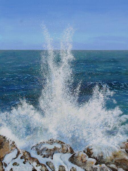 Sea Spray on the Rocks