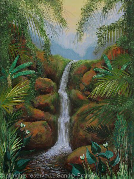 Jungle Waterfall Memory